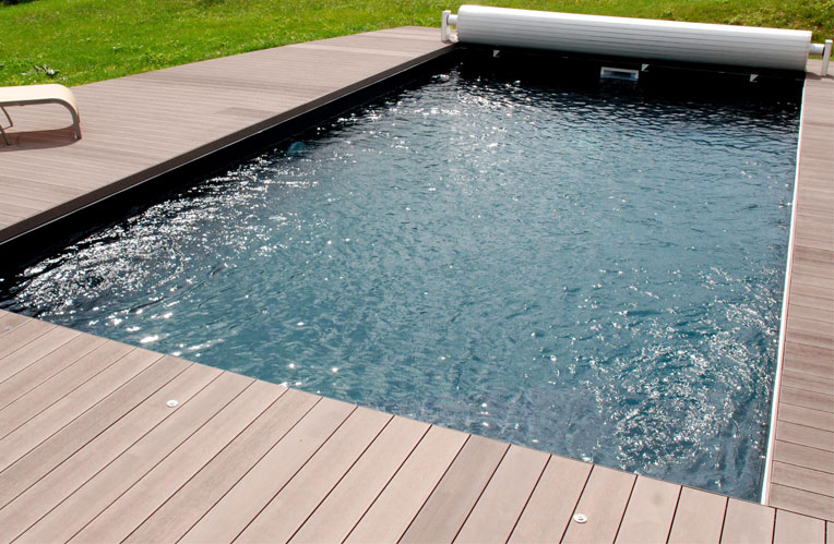 Terrasse zen for Piscine bois composite