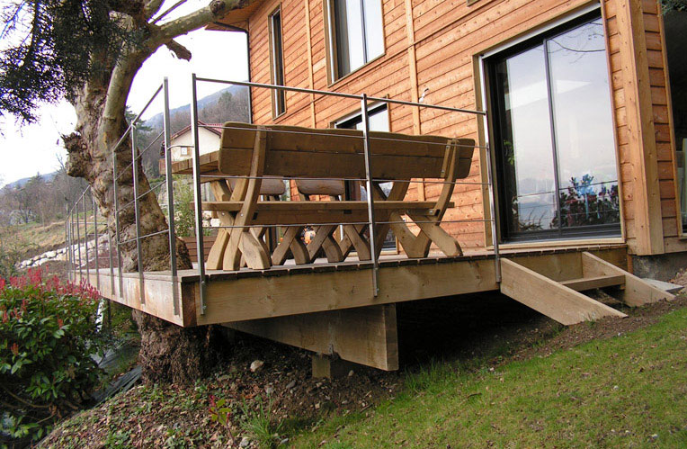 Terrasse bois, terrasse en bois Valence, bois de terrasse, restaurant